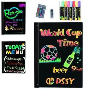 LED Schreibtafel Licht-Tafel Werbetafel Writing Board Reklame-Tafel mit 8 Stifte