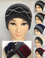 Men Women Winter Warm Winter Knit Ski Beanie Skull Chic Oversize Cap Hat Unisex