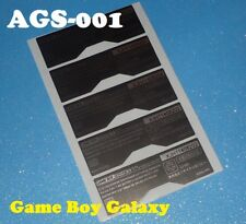 5 AGS-001 STICKER Replacement Console Label Game Boy Advance SP GBA SP ags001 5x
