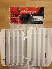 HONDA CRF 450 R CRF450 R 2013-2014 POLISPORT RADIATOR LOUVRES RAD GUARDS  WHITE