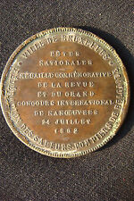1892 Medal commemorative of the Federation of Firefighting Brigade of Belgium