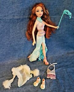 2004 My Scene Masquerade Madness CHELSEA  Mermaid Doll Clothes Shoes Lashes Mask