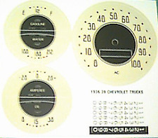 Chevrolet Chevy Truck Fuel Oil Temp Amp Speedometer Gauge Refacing Kit 1936-1939