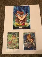 Broly Vegeta Dragon Ball Z Gogeta Movie Promo Trading Cards 3 Set P-068 P-069 PR