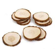10pcs 8-9CM Wooden Wood Log Slices Discs For DIY Craft Wedding Rustic Pyrography