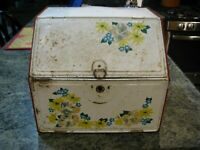 """Vintage Collectible Metal Kitchen Bread Box 1950's Two Compartment 12 3/4"""" x 11"""