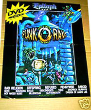 PUNK-O-RAMA promo 2002 POSTER Bad Religion REFUSED Rancid OFFSPRING Pennywise