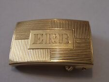 VINTAGE 14K YELLOW GOLD BELT BUCKLE MONO ERB 15.45 GRAMS TESTED 1960'S WAS $700