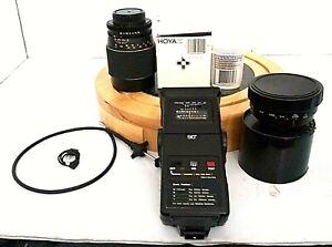 Camera Acc. Bundle Lot Bag Lens ZOOM FLASH ZOOM LENS CLEANER SHUTTER CABLE