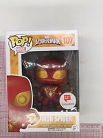Funko POP! Marvel Spider-Man Iron Spider Walgreens Excl #107 NOT MINT BOX N03