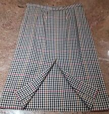 Authentic BURBERRY of London Nova check wool skirt, size 10 long