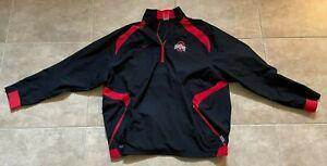 Nike Ohio State Buckeyes Red & Black 1/4 Zip Jacket Windbreaker Men's XL