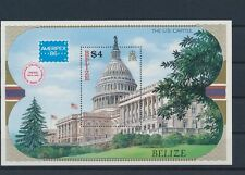 LM80028 Belize 1986 expo US capital good sheet MNH