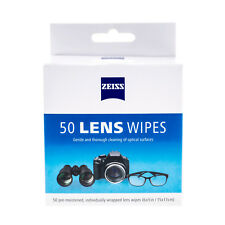 ZEISS 50 CLEANING WIPES PRE-MOISTENED LENS EYEGLASSES SUNGLASSES CAMERAS VIDEO
