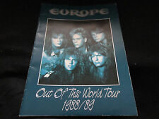 Europe 1988 Japan Tour Book Having Taped Ticket Stub Joey Tempest Kee Marcello