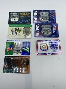 """PBA DEA vintage Card Lot of 7 Different, New York Attorney NYC 1993 1997 """"99 """"02"""
