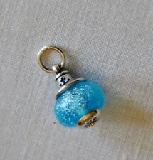 JAMES AVERY RETIRED Art Glass Bead Charm Hope Anchor Finial Sterling Silver