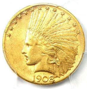 1908-S Indian Gold Eagle $10 - Certified PCGS AU55 - Rare San Francisco Date!