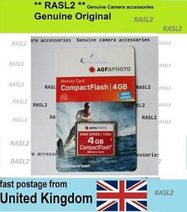 NEW 4 GB CF Compact Flash Memory Card For Digital Camera Canon EOS Nikon Olympus