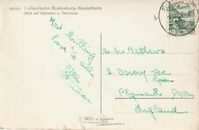 1948 Switzerland/Helvetia card sent from Spiez to Plymouth