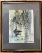 Signed original Chinese style landscape watercolour painting