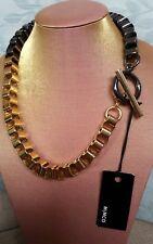 💕💕💕New $129.00 MIMCO NOTORIOUS NECKLACE CHOKER COLLAR  BLACK GOLD + D/B💟💟💟