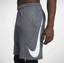 Nike Hbr mens Iconic Swoosh Logo Basketball Shorts Gray sz Xl 910704-065