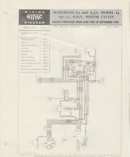 WIPAC  WIRING DIAGRAM - MATCHLESS G2 & AJS MODEL 14  250cc  OHV Motorcycles