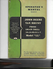 John Deere Van Brunt Press Grain Drill Model Ll Operators Manual