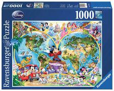 1000 Teile Ravensburger Puzzle Disney Disney's Weltkarte 15785