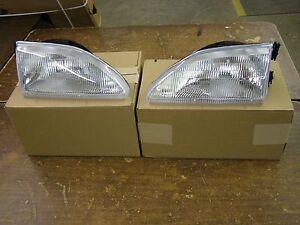 NOS OEM Ford 1994 - 1998 Mustang Headlights GT V6 1995 1996 1997 Headlamps