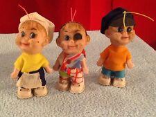 Kelloggs Snap Crackle & Pop Vinyl Christmas Tree Ornaments Cloth Clothes Vintage