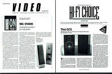 2 Orig 1992/1993 Thiel Loudspeaker Speaker Reviews Video Magazine & Hi Fi Choice