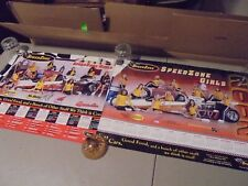 LOT OF 2 SPEED ZONE GIRLS POSTERS WITH 10 GIRLS AN A DRAGSTER FROM 2002,2001?