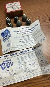 "1928-1941 CHEVY 1933-41 PONTIAC 1/2"" OVERSIZE OIL DRAIN PLUGS BOX OF 6 NOS 720"