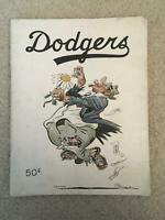 1951 Brooklyn Dodgers Yearbook Willard Mullin- Signed by 3 Dodgers!