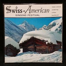 LP SWISS AMERICAN SINGING FESTIVAL Mass Chorus Yodeling Zither Hackbrett '59 VG+
