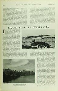 1902 PRINT JETTY AT BUSSELTON WEST AUSTRALIA ~ VASSE RIVER