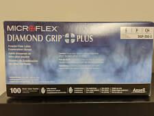 Diamond Grip Plus Powder-Free Latex Examination Gloves, Small 100 pair
