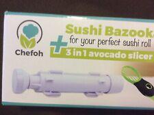 Chefoh All-In-One Sushi Making Kit Sushi Bazooka Sushi Mat & Bamboo Chopstick