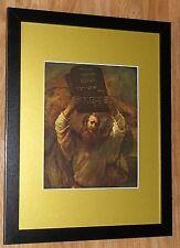 """Incorniciato 12"""" x16"""", REMBRANDT, BIBBIA dipinti, i comandanti dipinti, Mosè"""