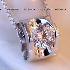 CHRISTMAS GIFTS FOR HER Diamond & Heart Charm Necklace Women Girlfriend Wife K8