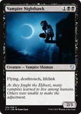 VAMPIRE NIGHTHAWK Commander 2017 MTG Black Creature — Vampire Shaman Unc