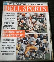 Dell Sports Magazine Baseball September 1962 Jim Brown Jim Taylor