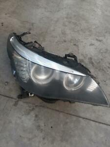 2008 BMW 5 SERIES RIGHT HAND SIDE HEAD LIGHT, HALOGEN TYPE, E60, 530D - FADED