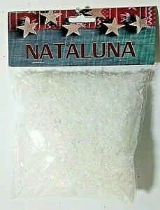 NATALE NEVE A SCAGLIE IMBUSTATA NATALUNA DECORAZIONE ADDOBBO PRESEPE