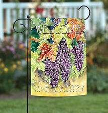 Toland Vineyard Grapes Welcome to Wine Country 12.5 x 18 Regional Garden Flag