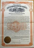'Mount Hood Railroad Company' 1907 Stock/Vertical Bond Certificate - Utah UT