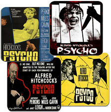 Psycho Movie Film Poster Coasters Set Of 4. High Quality Cork. Alfred Hitchcock