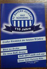 Stadion Programm Festschrift 110 Jahre FC Bayern Kickers Nürnberg - Fortuna Köln